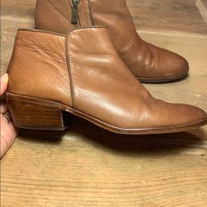 Sam Edelman Brown Leather Ankle Boots